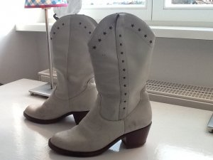 Coole vintage Cowboyboots in weiß