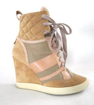 Coole Wedge Sneaker von Chloé aus Leder und Canvas zum Schnüren
