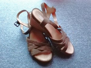 5th Avenue Wedge Sandals multicolored leather