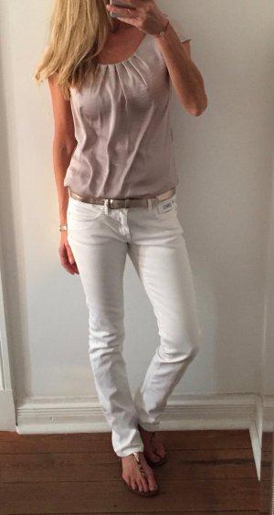 Pepe Jeans London Jeans coupe-droite blanc coton