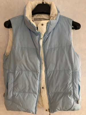 Down Vest azure-natural white