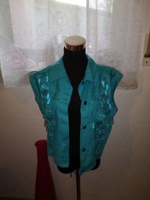 Madeleine Gilet en jean bleu clair