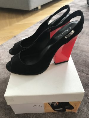 Coole Wildleder High Heels von Calvin Klein, US Gr. 7