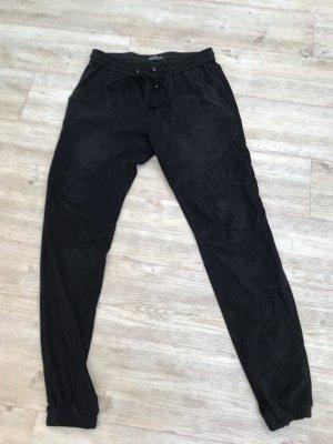 Blue Fire Pantalón abombado negro tejido mezclado