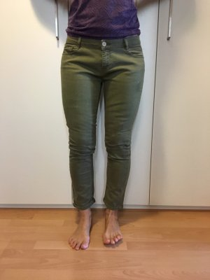 Zara pantalón de cintura baja caqui-gris verdoso
