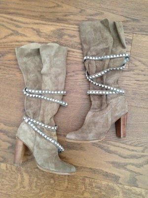 Coole Zara Lederboots Nieten Stiefel ausverkauft Blogger 37