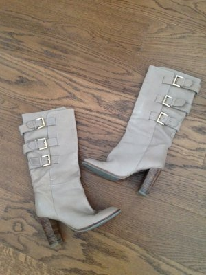 Zara High Boots beige-gold-colored