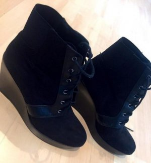 Zara Botas de cuña negro