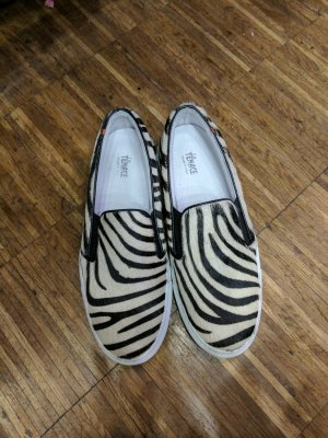 Coole Zebra Fell Schuhe!