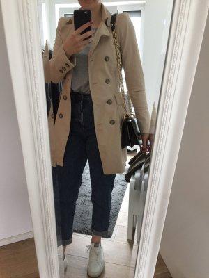 Cooler beiger Trenchcoat, Zara, Gr. XS