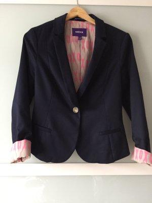 Cooler blauer Blazer von Mexx mit pinkem Leopardenprint