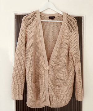 Topshop Wool Jacket dusky pink-silver-colored