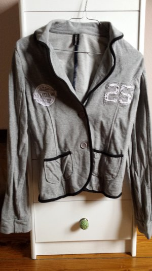 cooler Collageblazer aus Sweatstoff