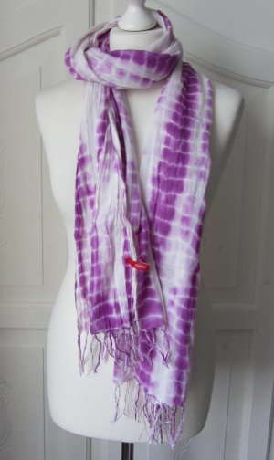 Esprit Scarf white-lilac cotton