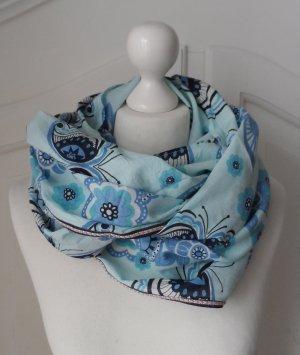 cooler Esprit Loop Schal mit floralem Muster Türkis Blau