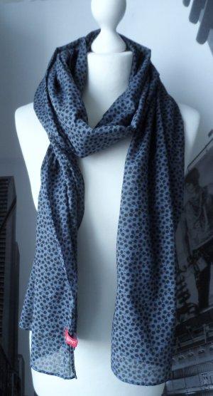cooler Esprit Schal mit Minimal Print Dunkelblau nur wenig getragen