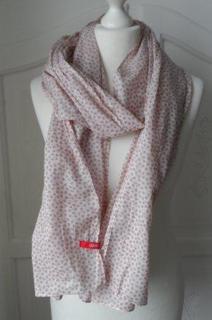 cooler Esprit Schal mit Minimal Print Hellrosa nur wenig getragen