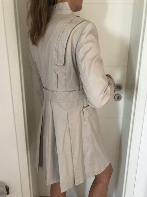 Zara Woman Gabardina beige claro Algodón
