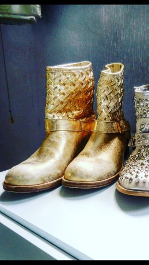 Cooler Gold Metallic Boots