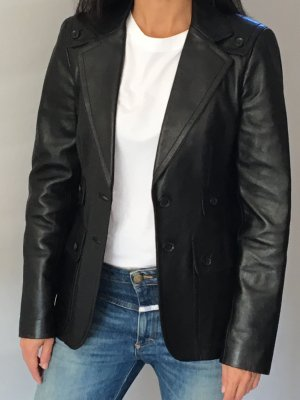 Gucci Leather Blazer black leather