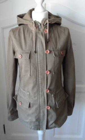 cooler Hallhuber Parka Gr. 36 Jacke Khaki wenig getragen