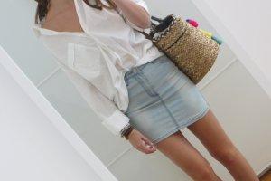 Denim Skirt azure cotton