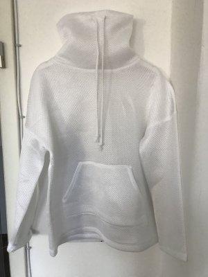 Zara Jersey con capucha blanco tejido mezclado