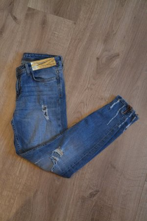 Zara Jeans cigarette multicolore