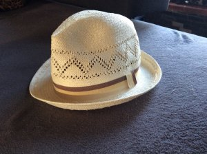 H&M Chapeau de paille blanc cassé