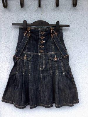100% Fashion Denim Skirt dark blue-slate-gray