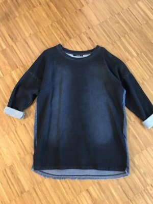 Oversized trui donkerblauw