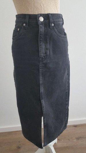 Zara Denim Skirt anthracite-black