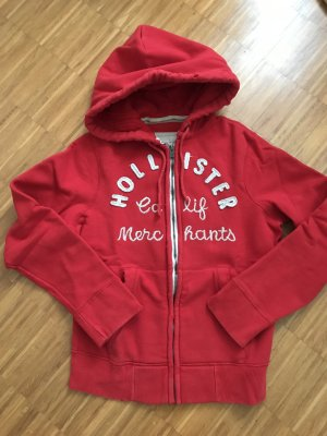 Hollister Hooded Sweater red