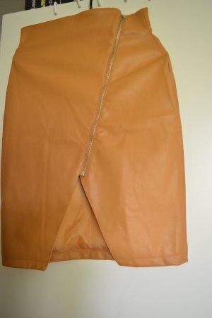 Nakd Faux Leather Skirt cognac-coloured-brown