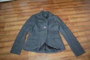 Cooler moderner Woll Blazer Gr. 40 Amisu