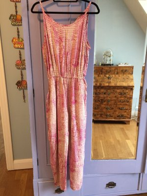 Cooler Overall mit animal print pink nude M 38-40