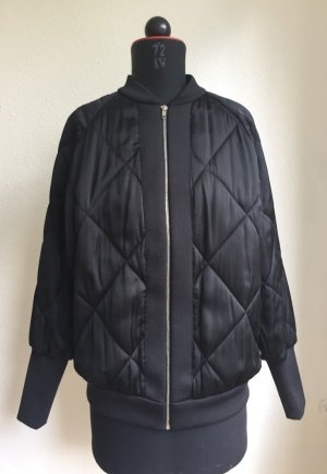 Cooler oversize Blouson, schwarz, Größe M von Zara