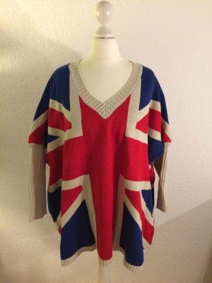 Cooler Oversize Pullover mit Print | Britische Flagge | Größe S-L