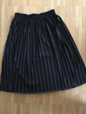 Gran Sasso Pleated Skirt black-grey