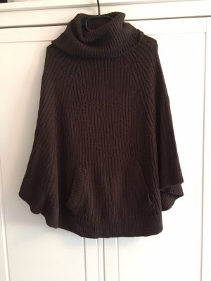 Janina Poncho black brown