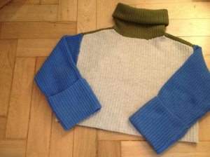 Cooler Pullover in Colour Block Optik /Wolle, Kaschmir