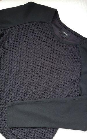 Cooler Pullover mit groben Mesh in schwarz