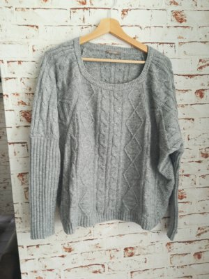 Orsay Coarse Knitted Sweater silver-colored cotton