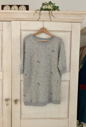 Rich & Royal Long Sweater light grey-silver-colored mixture fibre