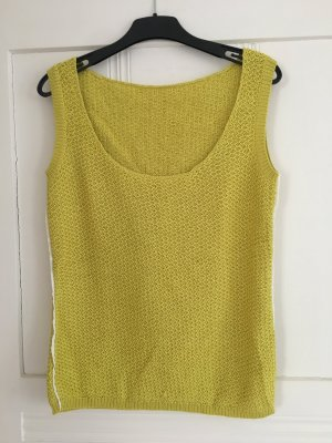 SPOON Fine Knitted Cardigan lime yellow cotton