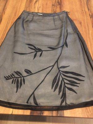 Sandra Pabst Silk Skirt light grey silk