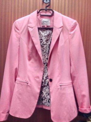 Cooler rosa Blazer von Only, mit ausgefallenem Innenmuster