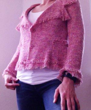 Cooler rosa Zara-Blazer im Chanel-Style in Größe 38 / M