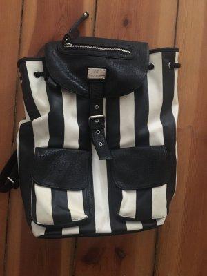 Cooler Rucksack in Schwarz Weiß
