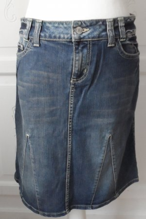 s.Oliver Jupe en jeans bleu coton